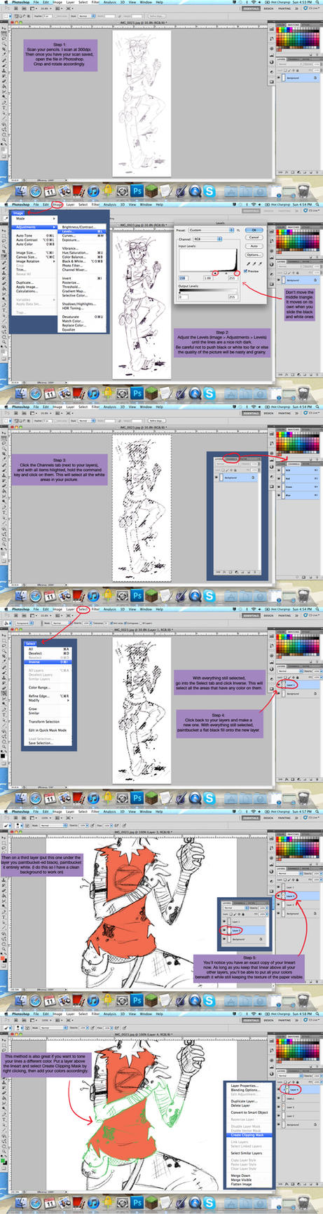 How to Turn a Pencil Sketch into Workable Lineart by TrainerLN