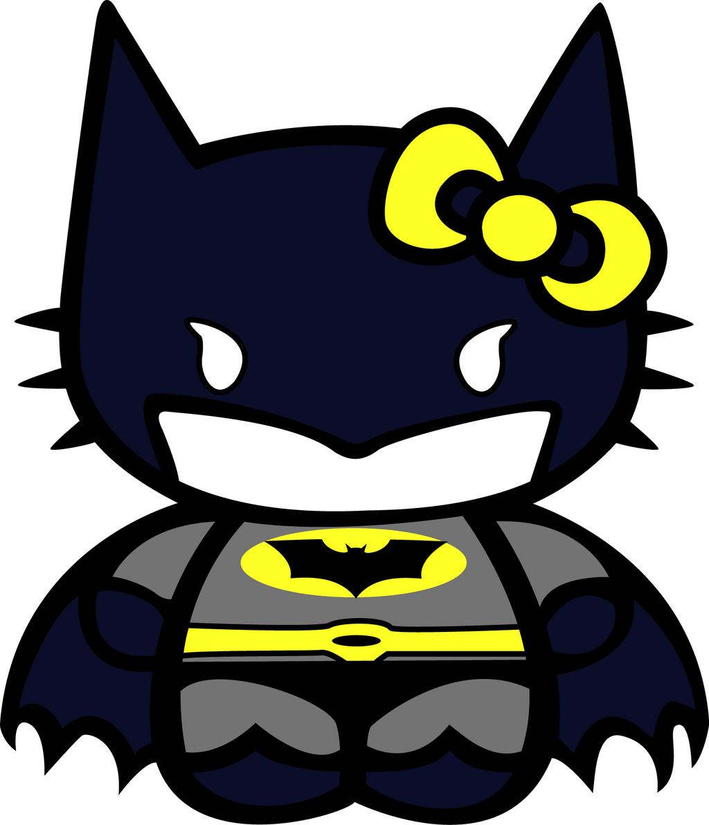 Hello Kitty Batman by ... Baby Minion Coloring Pages