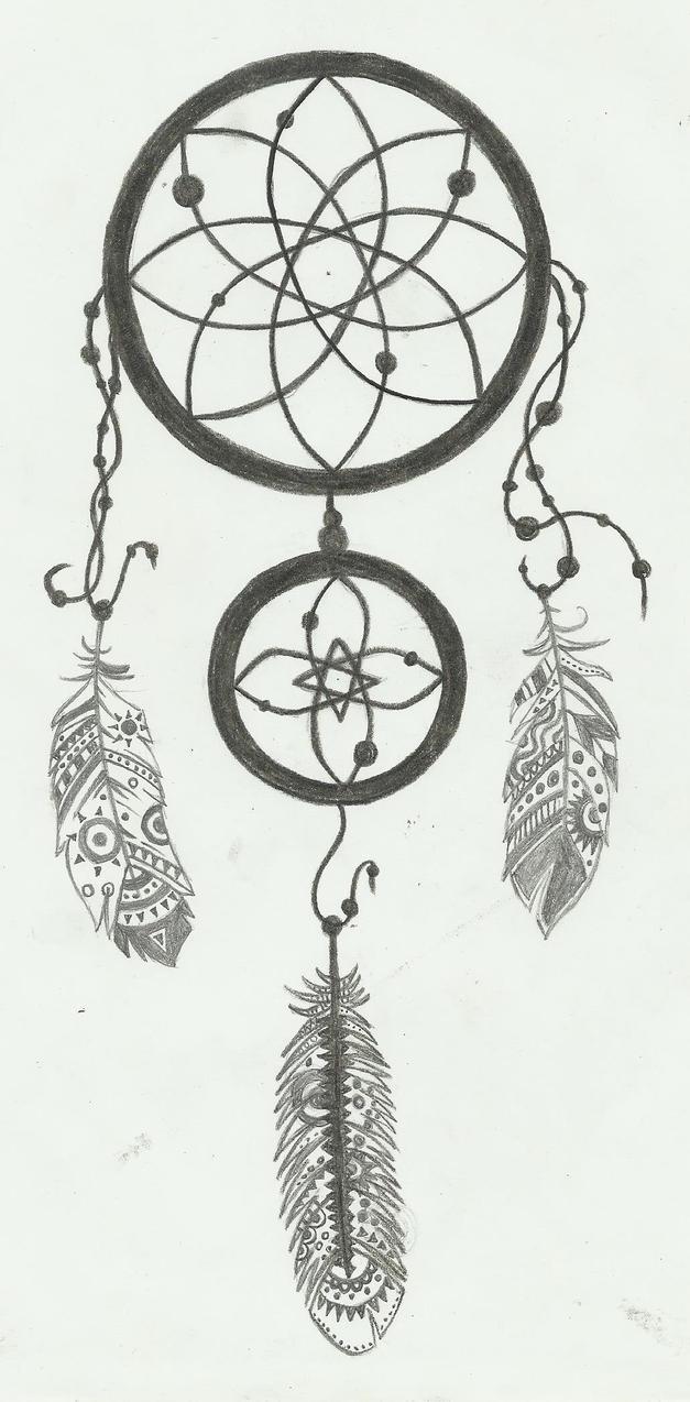 Dreamcatcher tattoo by qorakmd on deviantart for Dreamcatcher tattoo template