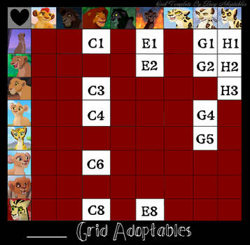 TLK/TLG Grid Adopts (ON HOLD) by Namirithecheepard