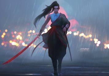 Sword Shearing Moonlight by ArtfulBeast