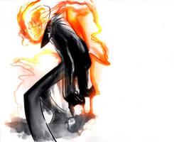 Ghostrider Sketch by EvanBryce