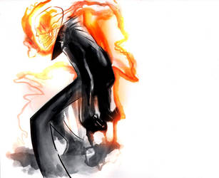 Ghostrider Sketch by EvanBryce
