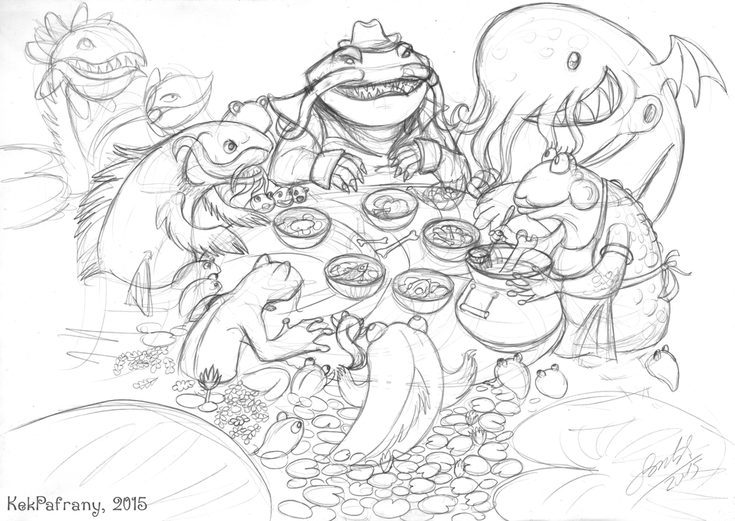 Tahm Kench family reunion by KekPafrany