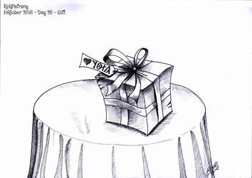 Inktober 2018 Day28 Gift  by KekPafrany