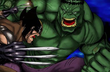 Wolverine X Hulk by demonplague