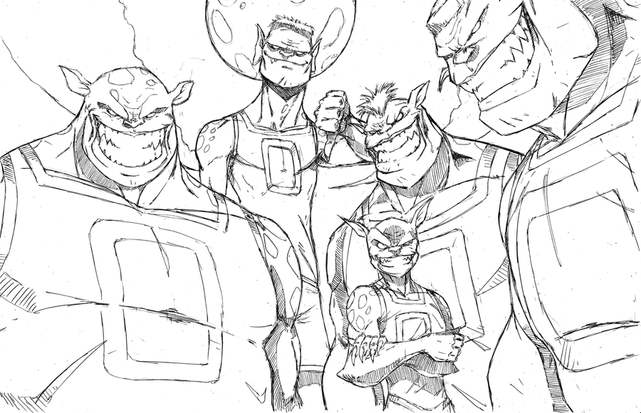 monstars by demonplague space jam by theeyzmaster - Space Jam Monstars Coloring Pages
