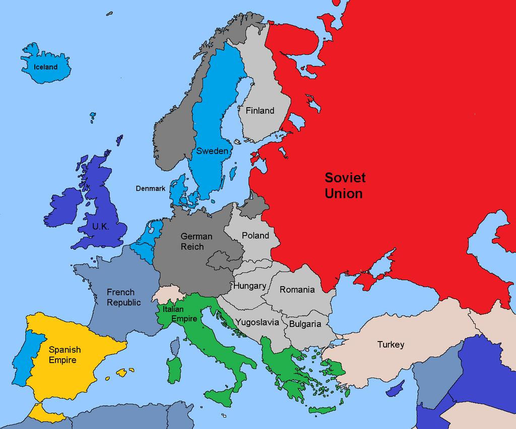 Europe Before WW2 1939 Albany Plan by TheTexasRanger on DeviantArt