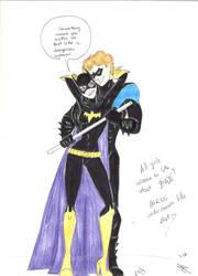 Batgirls underneath like that