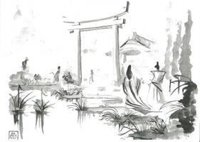Heian Garden by Samael1103