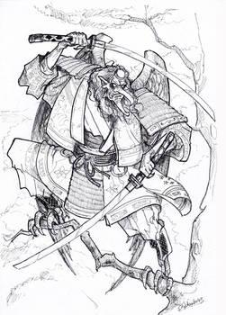 2 Swords Tengu by Samael1103