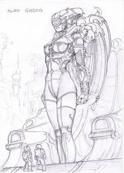 Alien Goddess sketch