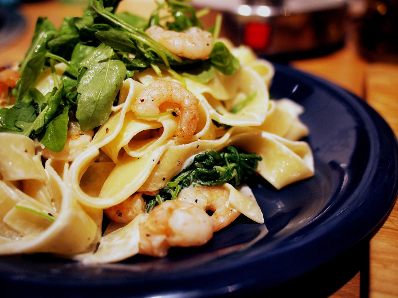 Tagliatelle, Mascarpone, Prawns, Rocket by Shocktherapist