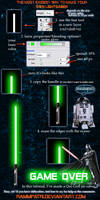 Easy Lightsaber tutorial by RammPatricia