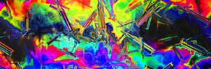 Raibow Bullets Multidisplay ultrawide