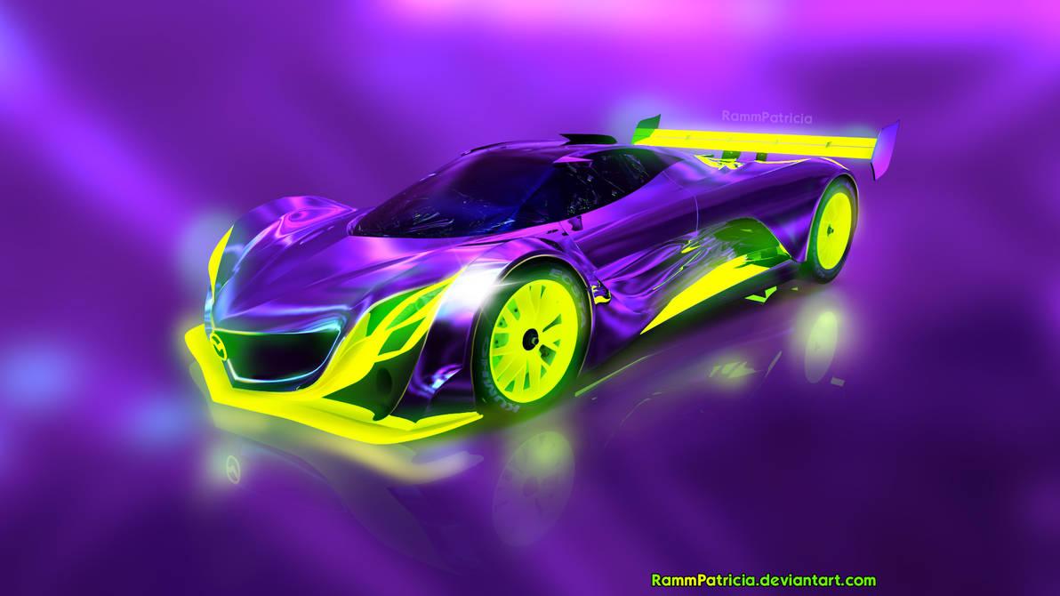 Mazda Furai Concept Purple and Lime