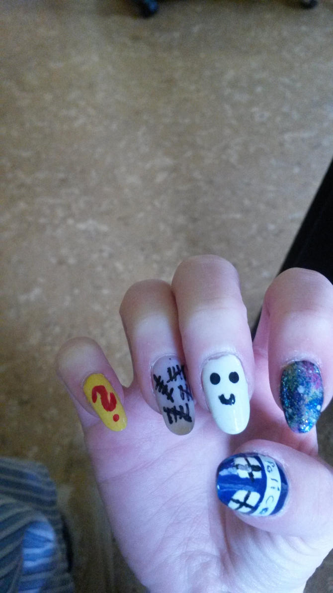 My Doctor Who Nails by cat-in-the-web