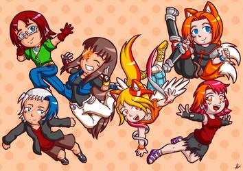 Eternal Nights Chibis by Animeartist569