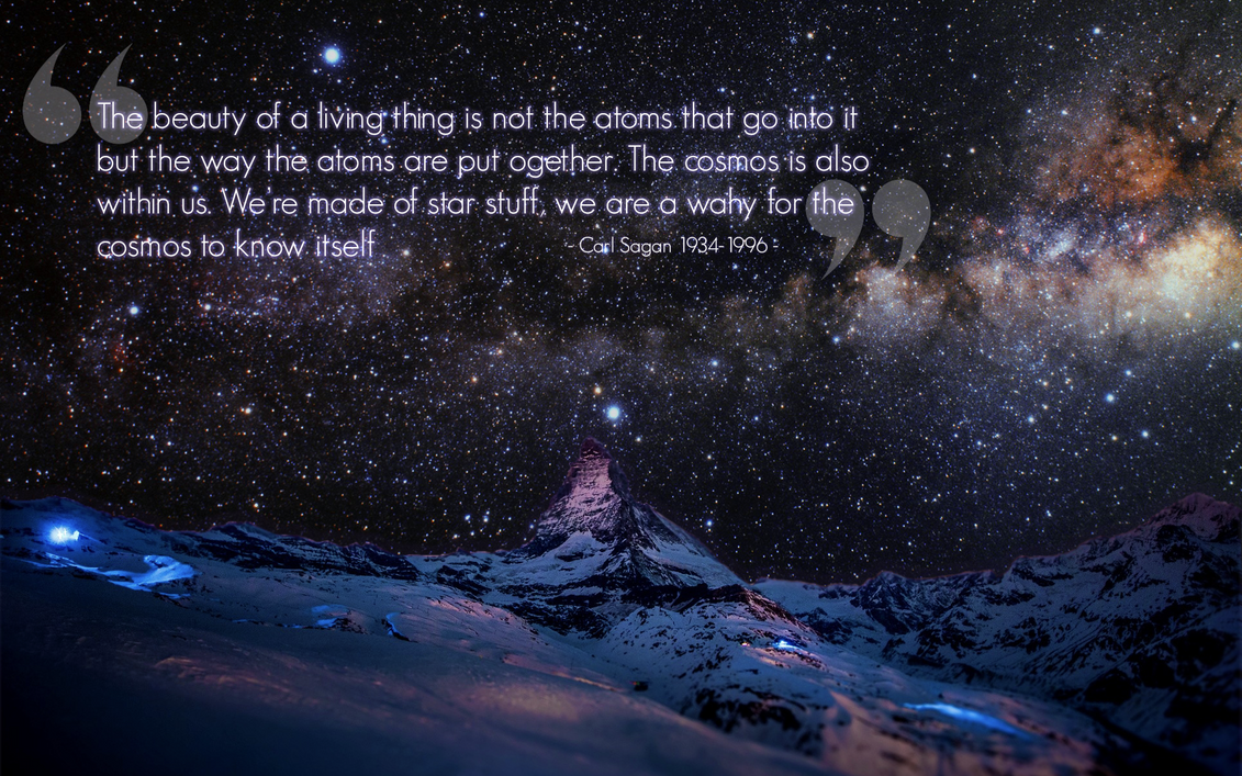 We 39 re made of star stuff carl sagan 1920 x 1200 for When was space made