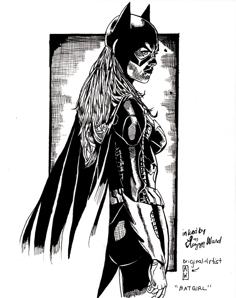 Batgirl Pencil - Inked by pixelatedxdeath
