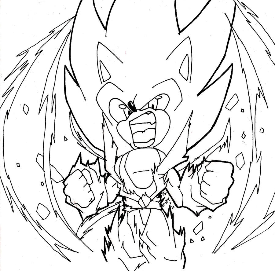 Super sonic by rampage625 on deviantart for Sonic shadow coloring pages