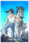 Wolverine Cowboy - Acrylic