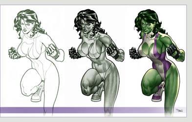 She Hulk - Pencil and PS