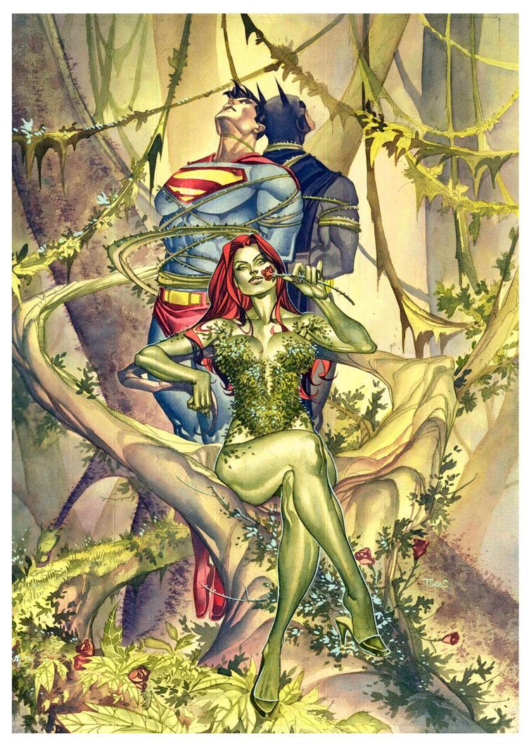Batman vs poison ivy comics for pinterest