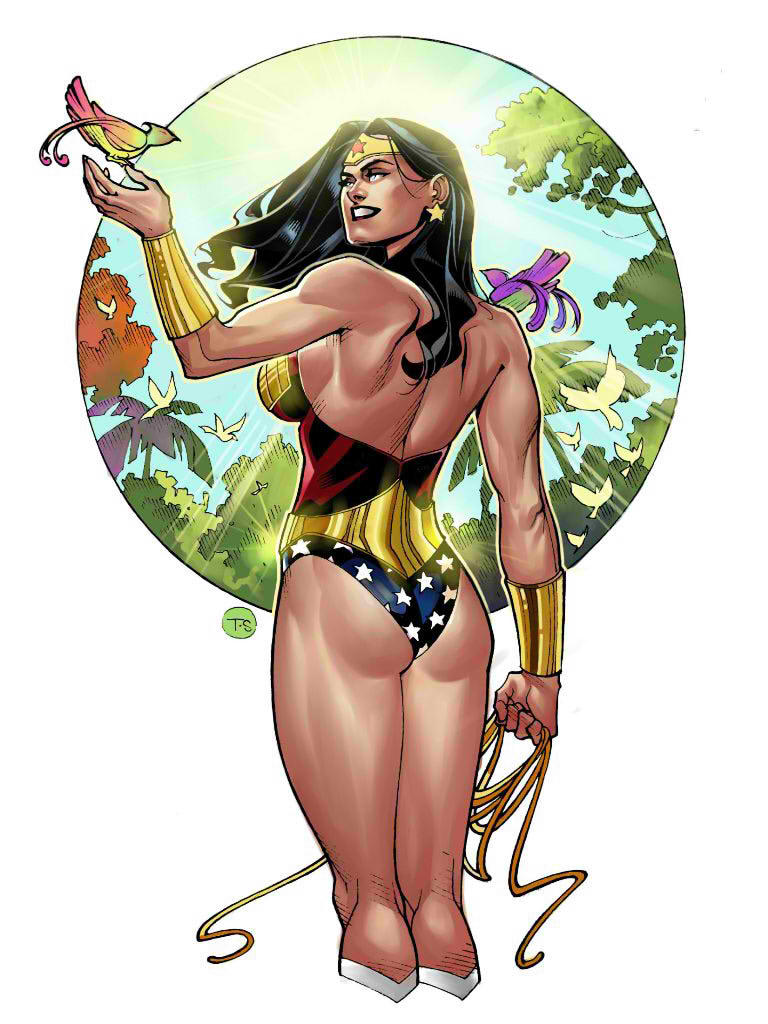 Wonder Woman Pin-up by taguiar