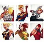 Marvel/DC  Girls - Cards 5x6