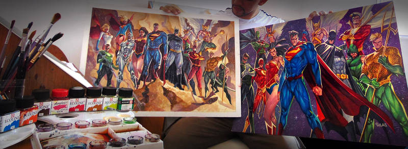 COMMISSIONS OF THE JUSTICE LEAGUE - GIANT SIZES