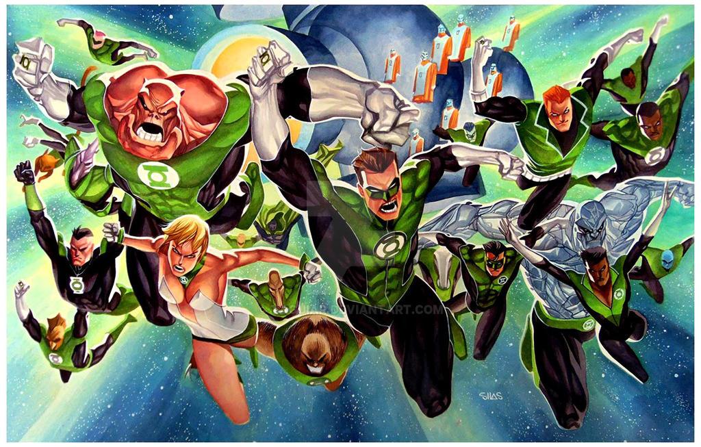 Grenn Lantern Corps - Commission 20x30