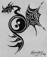 tribal dragon by nyan-nyan