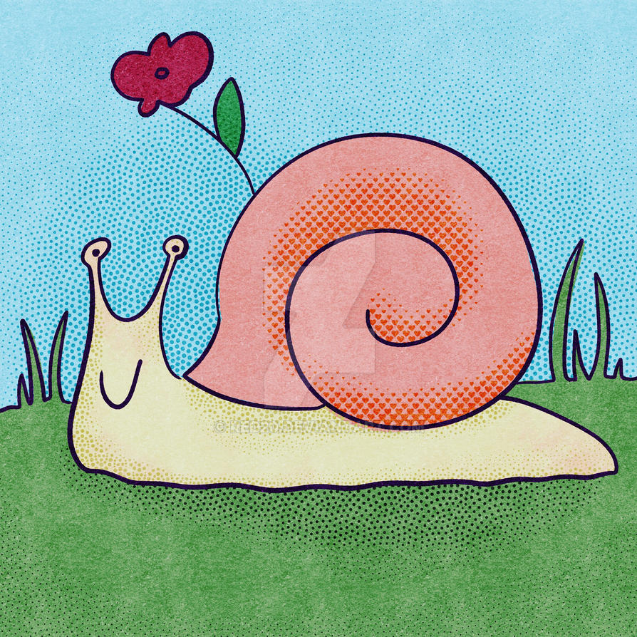 Friendly Snail by red20