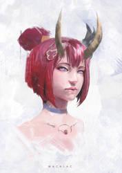 Bloodmoon Evelynn by wacalac