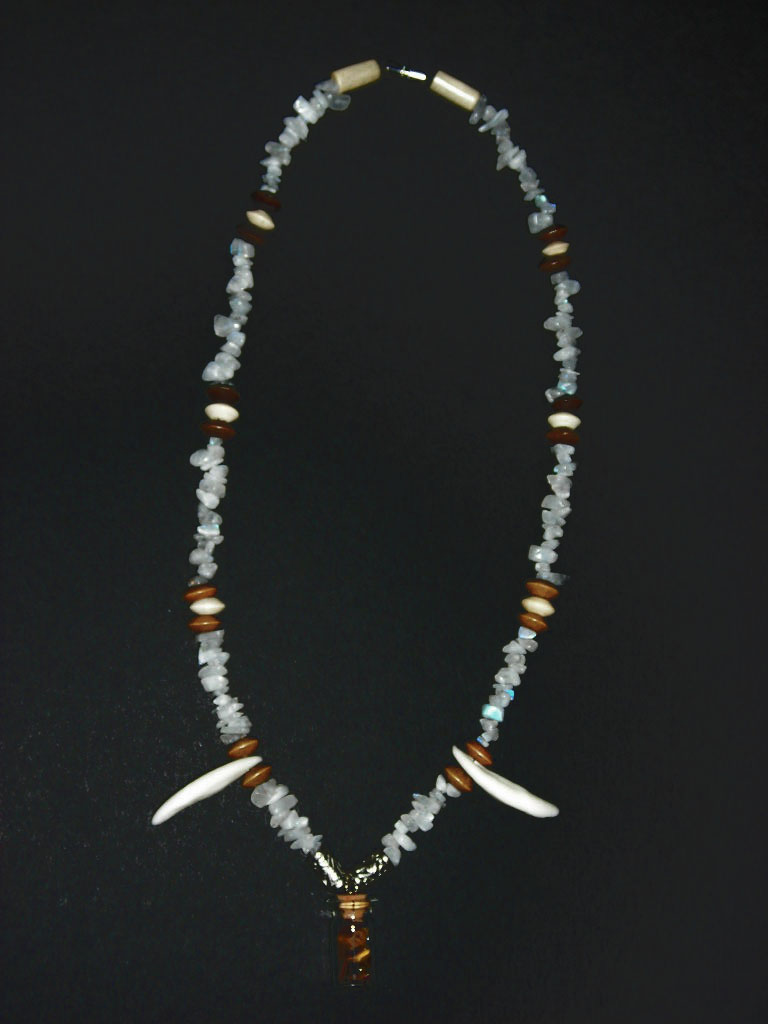 Moon's Eye Coyote - Necklace by Zhon