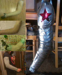 Stages of Creating a Winter Soldier Arm by Zhon