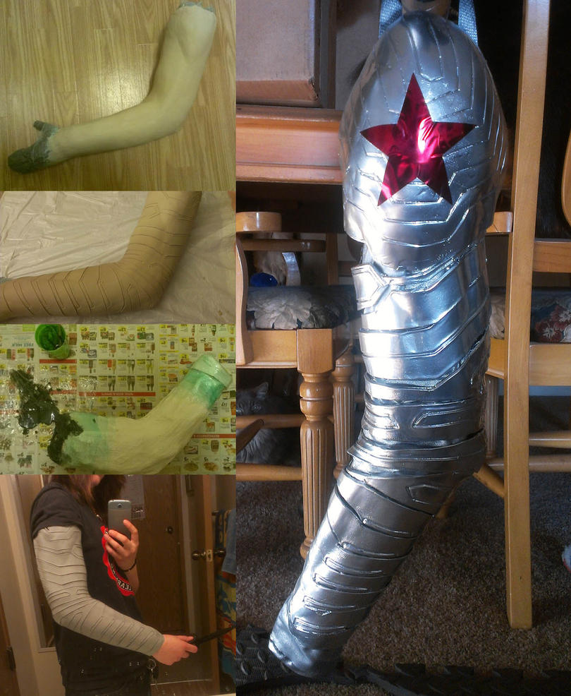 Stages of creating a winter soldier arm by zhon on deviantart for Diy cast net