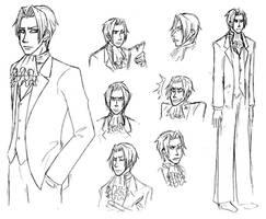Sketches of Miles Edgeworth