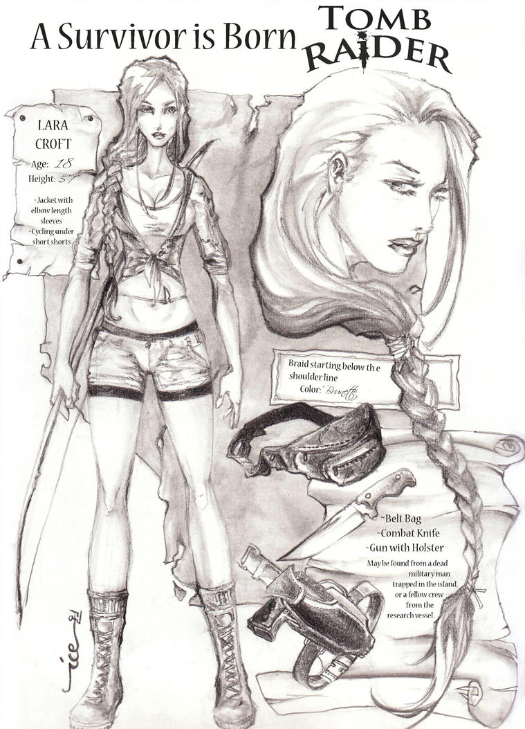 Lara Croft Origins design by blizzardstrike