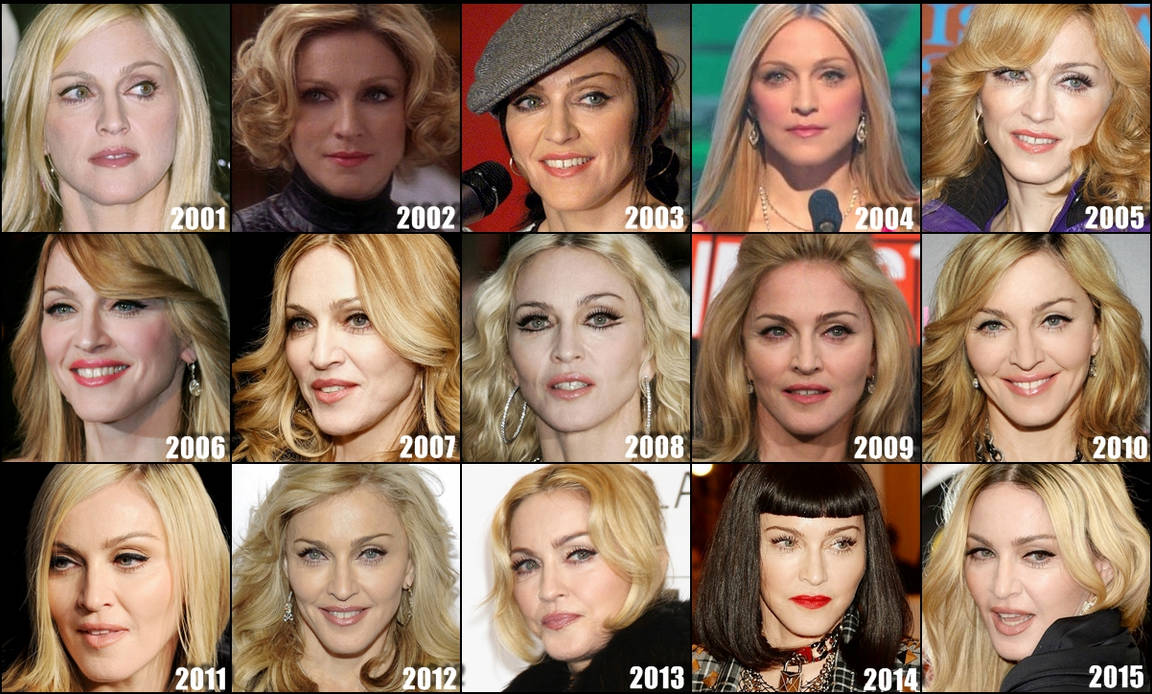 Madonna's face evolution the last 12 years by ConfessionOnMDNA on ...
