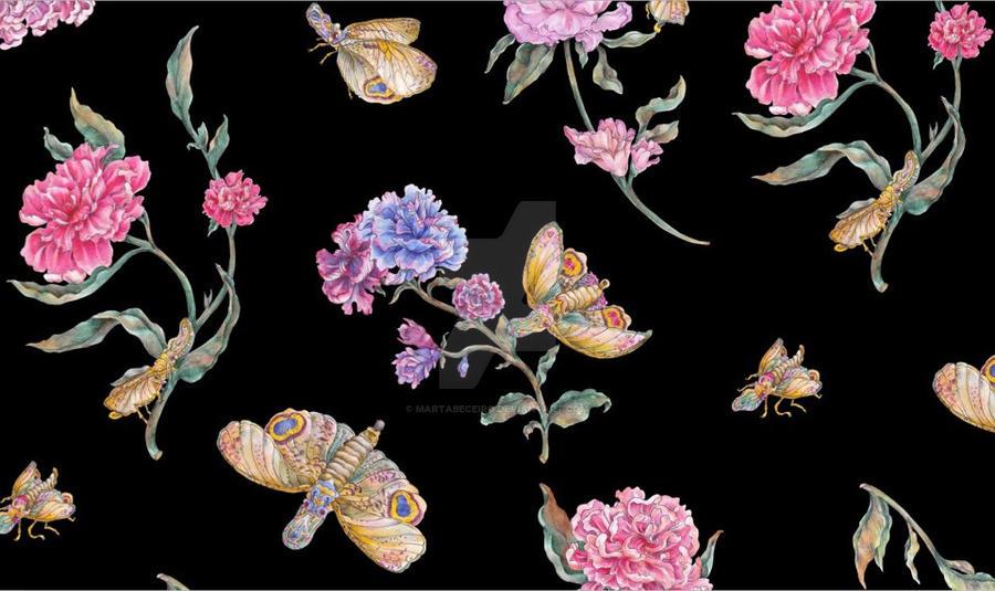 estampado mariposas cabeza de cacahuete by martabeceiro