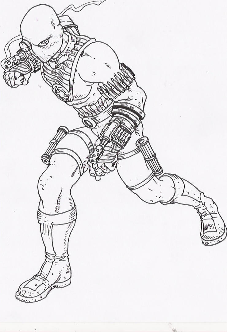 deadshot coloring pages - deadshot by tanyk on deviantart