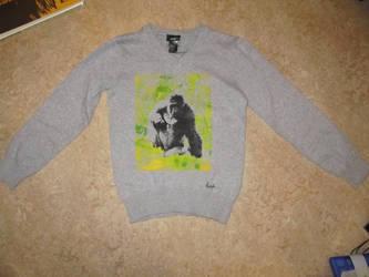 super gorilla sweater by BAKKSAIGA