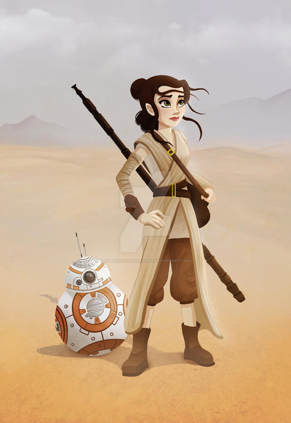 Rey and BB-8 by Superior-Silverfox
