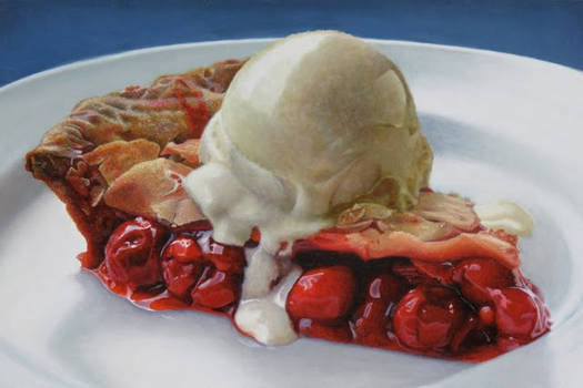 Big Cherry Pie A La Mode