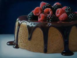 Berries  Cake by Mary Ellen Johnson