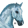 Fire and Ice: Ice Horse Pixel by EnchantedEquine