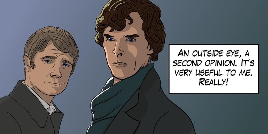 Sherlock Holmes and Dr. John Watson by mjswart