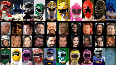 Hollywood Actors As Power Rangers MMPR, Zeo, Turbo